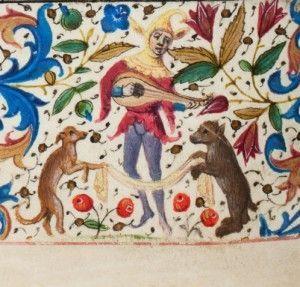 Miniatura tratta dal 'Libro d'Ore Trivulzio' (XV secolo), Koninklijke Bibliotheek, L'Aia.