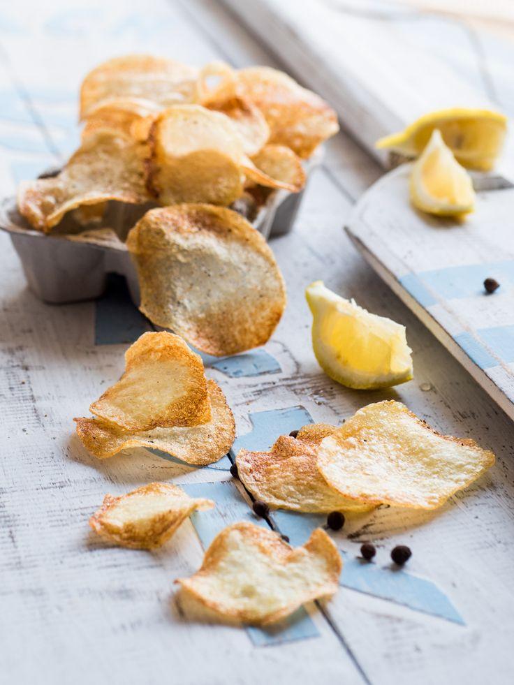 Chips di patate limone e pepe nero