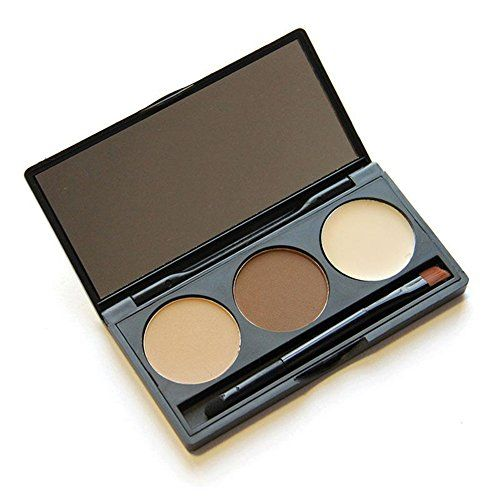 Banggood 3 Colors Eyebrow Shading Powder Palette  Mirror Brush Cosmetic Kit for Women -- See this great product.