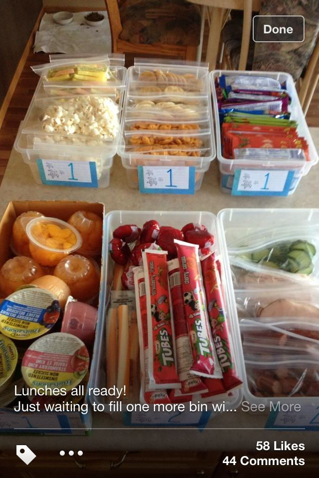 Lunch box ideas. My kids can pick what they want for their lunch. Can have the number of items from each basket listed on front. Genius!!!