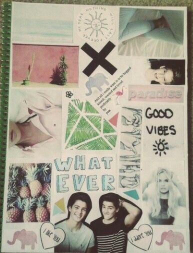 Tumblr Notebook Collage TumblrQuotesDIY Pinterest
