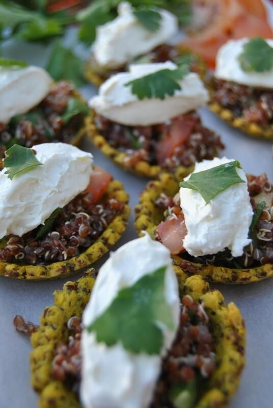 Healthy deliciousness! @PJ taste New gluten free goodie gram flour and quinoa tart case with red quinoa and our own soft cheese from @Visit #OurCowMolly milk