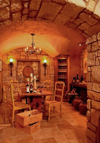 French Country Estate Traditional Wine Cellar Detroit Vanbrouck Ociates