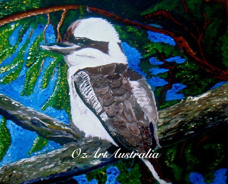#ArtSetFree-Kookaburra in the old Oak Tree