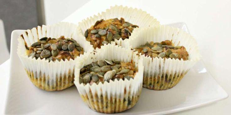 SUNNE MUFFINS: Næringsrike og mettende matmuffins med cottage cheese som passer perfekt til matpakken. Muffinsene kan fint fryses.
