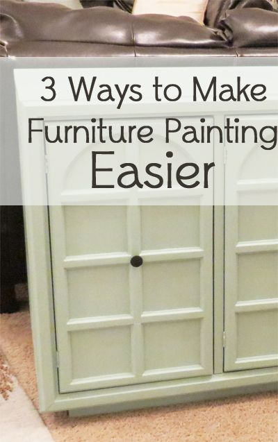 """""""Furniture painting is hard work, thats for sure. Theres no way around that. But, the results are definitely worth it. There are, however, three things you can do to make painting furniture a little easier and less work: 1. Use an Electric Sander  I swear by using an electric /p"""""""