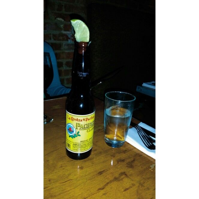 #CRAFTbeer Creveza Pacifico Clara. Translated: Pacific Larger. This is a little import from good ol' Mexico, hence the lemon on top. Decent beer but nothing to sing songs about.