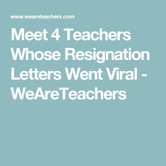 Best 25+ Teacher resignation letter ideas on Pinterest Sample of - simple resignation letters