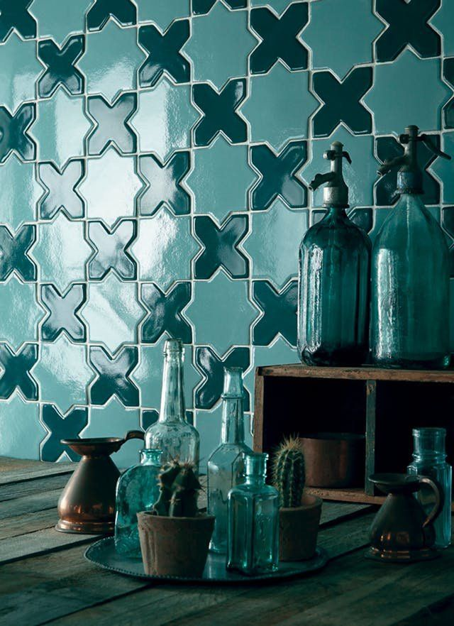 Top Tile Options in 2017 | Subway tile isn't the only option when renovating your bathroom, and kitchen backsplash tile doesn't have to be one color.
