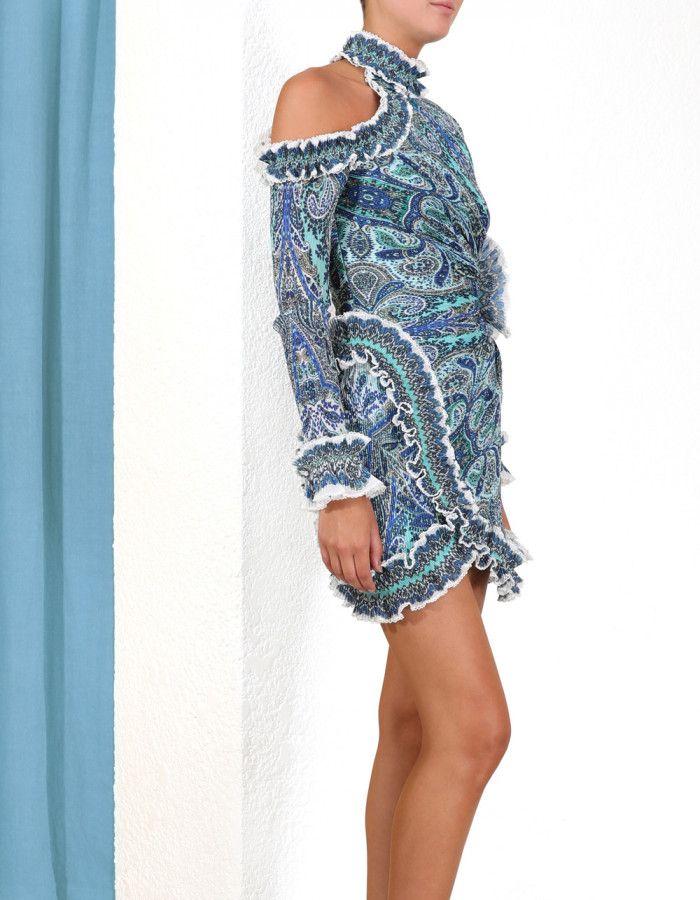 84f9c4515dd70 Moncur Asymmetric Mini Dress in 2019 | Zimmermann | Dresses, Fashion ...