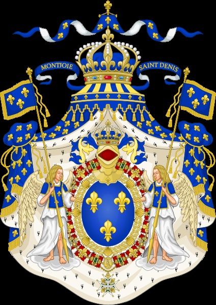 French Blue color as seen in the Grand Royal Coat of  Arms of France.