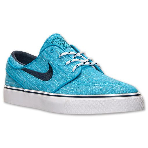 Men's Nike SB Zoom Stefan Janoski Canvas Casual Shoes | Finish Line | Blue Lagoon/Obsidian/Clearwater