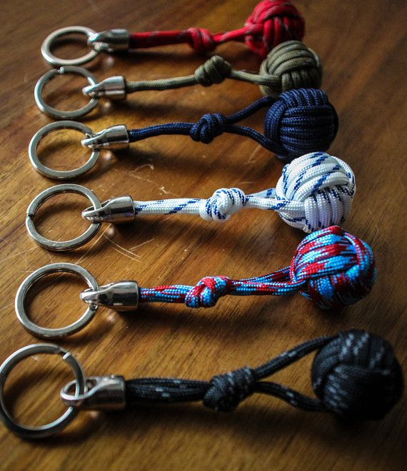 Handmade Nautical Monkey's Fist Paracord Keychain