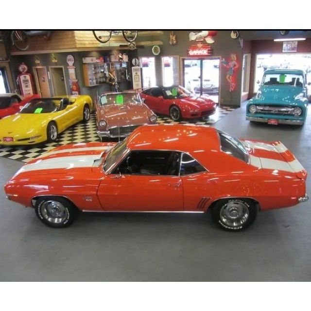1969 Camaro SS White with hugger Orange Stripes. I can still see ...