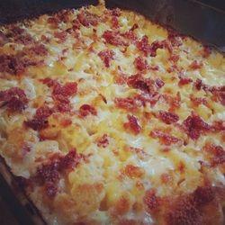 LCHF blomkål & bacon gratin. Cauliflower & Bacon gratin