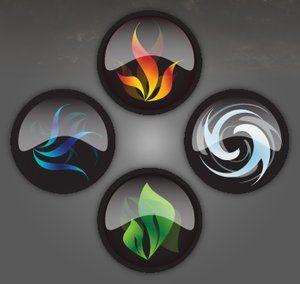 ⊰❁⊱ Mandala ⊰❁⊱  ⊰❁⊱Los Cuatro Elementos ⊰❁⊱