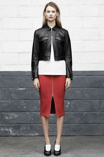 "No-Brainer Guide To Perfect Spring Style #refinery29  http://www.refinery29.com/transitional-clothing#slide-18  Toughen up your closet with a ribbed, zipper-front skirt. The edgy piece will obviously pair well with leather, but crop tops and tucked-in styles will look just as cool, too. If you're feeling the sporty trend this season, pair with sneakers for a chic, athletic effect.   T by Alexander Wang Cotton Rib Knit Long Skirt, $325, available at <a href=""http://www.alexanderwang...."