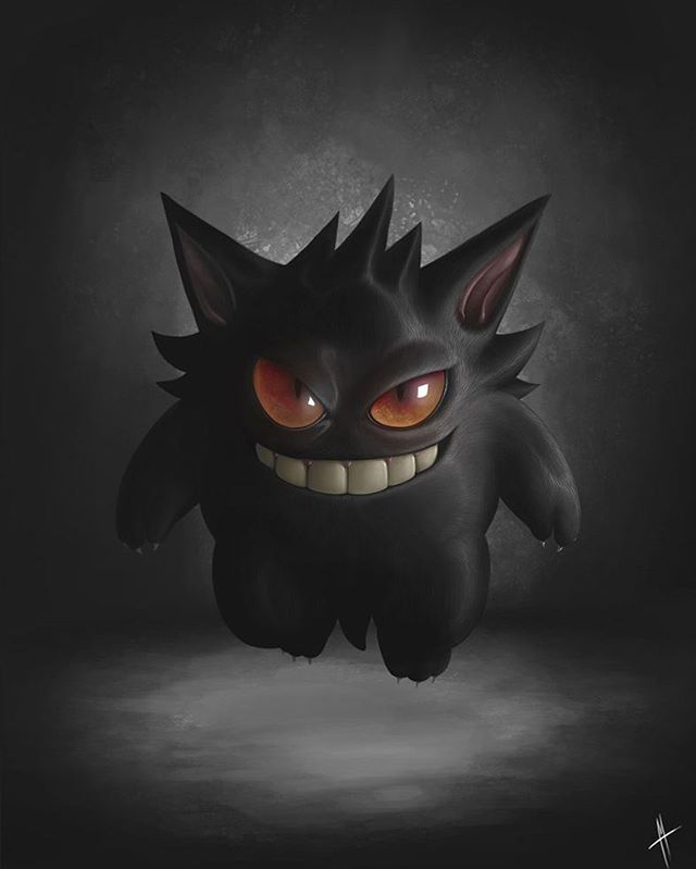 posted by gaming1empire via instagram :   《Gengar》by Marcos Lopez #PokéMONDAY#gengar#haunter#gastly#pokémon#pokemonsun#pokemonmoon#pokemonsunmoon#pokemon20#pokemongo#pokemon#nintendo#ninstagram#3ds#pokemonmaster#gottacatchemall#pokemontrainer#pokemonart#pokemonfanart#fanart#pokemonday…