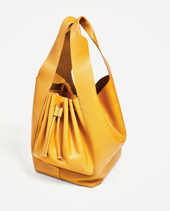 ZARA - WOMAN - SOFT LEATHER BUCKET BAG