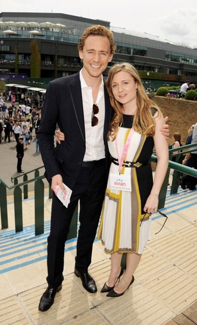 tom hiddleston girlfriend   Tom Hiddleston and sister Emma attends the evian 'Live young' VIP ...