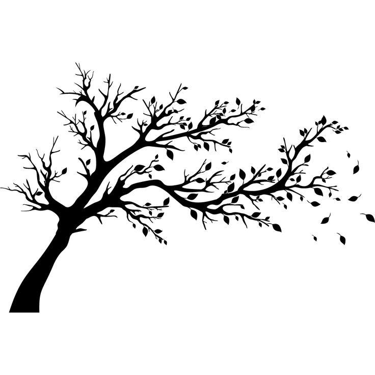 Wandtattoo Baum Tree silhouette Tree stencil Tree art