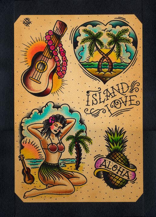 traditional tattoo flash love - Google Search