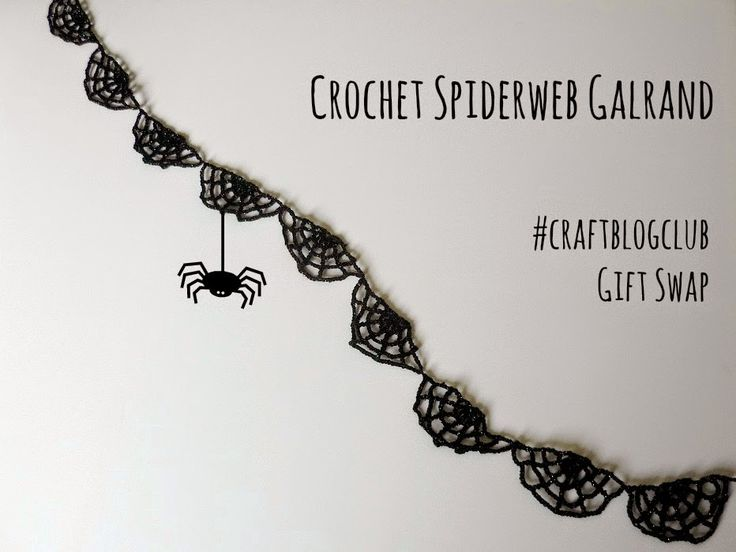 Crochet Spiderweb Garland
