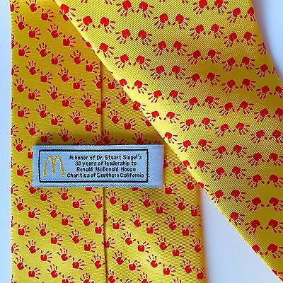 Collectible Ronald McDonald House Charities Necktie Dr Siegel California Tie
