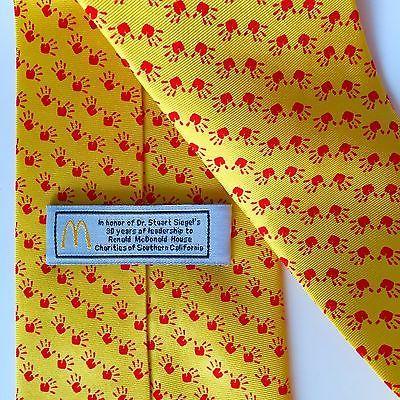 Collectible Ronald McDonald House Charities Necktie Dr Siegel California Tie