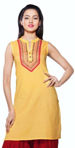A straight-fit tunic, this one lies between casual and formal clothing. With a neat Chinese collar-like neck, the detailed placket is very chic. The top gives the wearer a very elegant look that exudes confidence and grace.