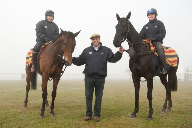 Trainer Alan King with Grumeti and Balder Succes (right)
