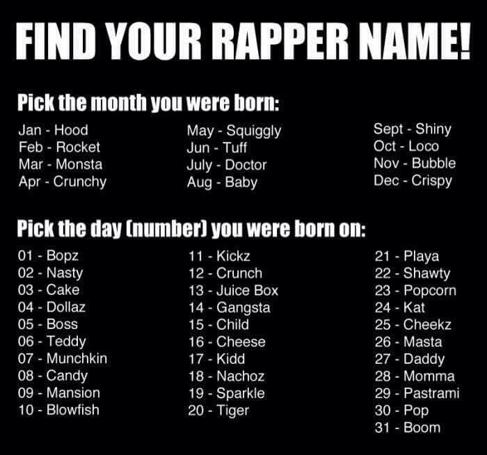 Hood dallaz   Name Generators   Funny name generator, Funny girl