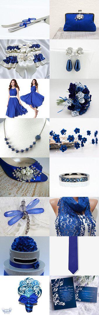 I DO in Blue 2.  Cobalt blue wedding inspirations board.  Something blue weddings