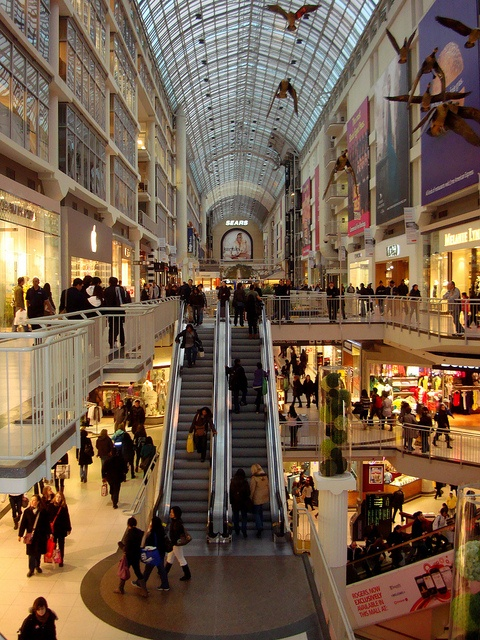 The Eaton Centre, Toronto | I really really want to take a visit here and soon.