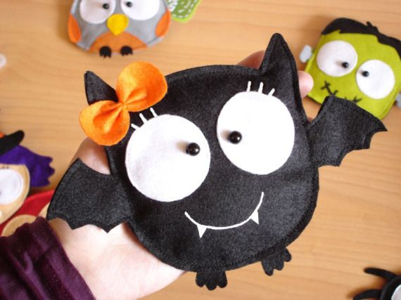 Bat Girl -monedero- trick or treat / Lovelia - Artesanio
