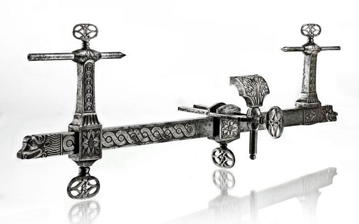 Lathe, wrought, carved, pierced and engraved iron, France 18th century