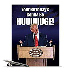 Jumbo Card:  HUUUUUUUGE! Birthday  (Extra Large Envelope: 8.5'' x 11'') Not Printed In China. $9.62  #MAGA #Birthday #Card #HUUUUGE #Donald #Trump