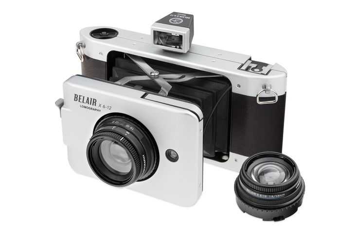 This lightweight panoramic medium-format camera has the best of Lomography's features, such as auto-exposure and interchangable lenses and uses 120 film.