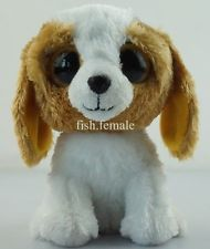 """6"""" Cookie TY Beanie Boos Puppy Dog Plush Stuffed Toy Brown Solid Eyes New 2012"""