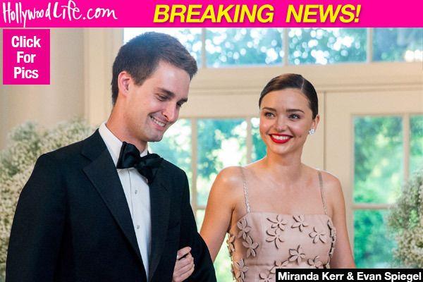 Miranda Kerr Gets Married: Orlando Bloom's Ex Weds Snapchat Founder EvanSpiegel