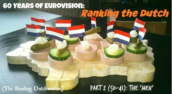 """Dull tearjerkers, possibly racist lyrics, and a very cheerful travel agency commercial.  """"Ranking the Dutch"""" continues... Read more at http://overthehorse.com/60-years-of-eurovision-ranking-the-dutch-part-2-50-41-meh"""
