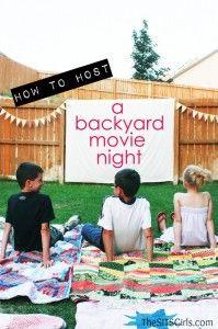 Backyard Movie Night: DIY Party   Movie Night Ideas