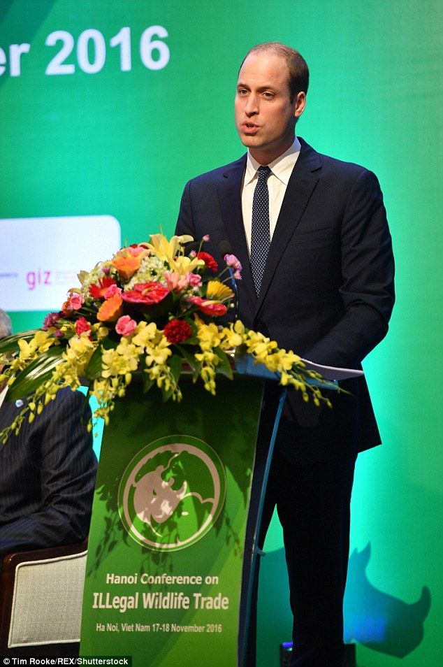 Prince William has campaigned for years to raise awareness of the impact of the illegal wi...
