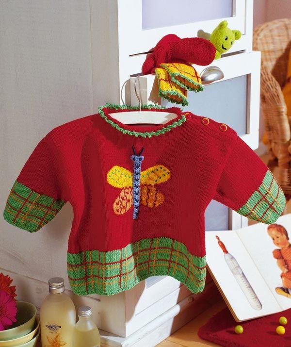 Design 5368, Sweater free pattern. Newborn to 18 months