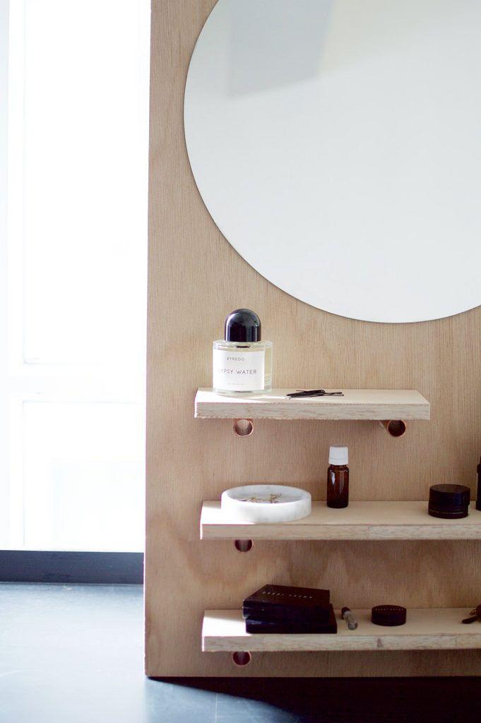 DIY Pine Make up Vanity