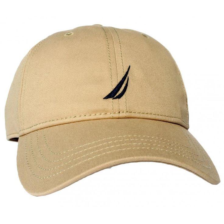 NAUTICA Ανδρικό καπέλο, μεταλλικό κλιπ, μπεζ χρώμα