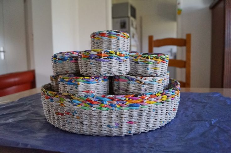 Calabash bazaar canasta cesta cestaria pinterest - Reciclar cestas de mimbre ...