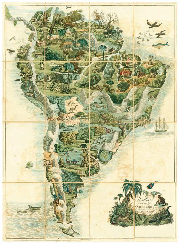 Nuevo juego de Wallis: viajes por tierras salvajes (1844). Eduard Wallis