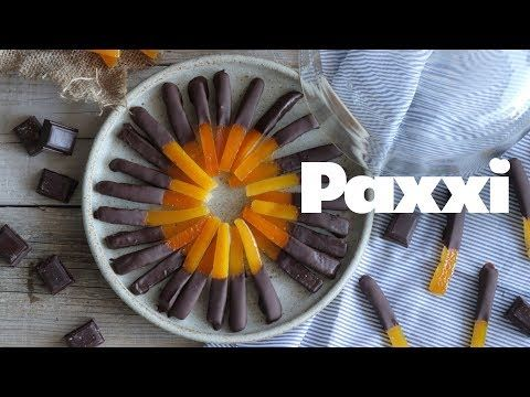 Μπαστουνάκια πορτοκαλιού με σοκολάτα — Paxxi