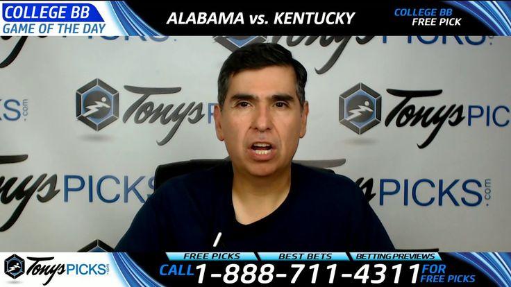 Alabama vs. Kentucky Free NCAA Basketball Picks and Predictions 3/11/17